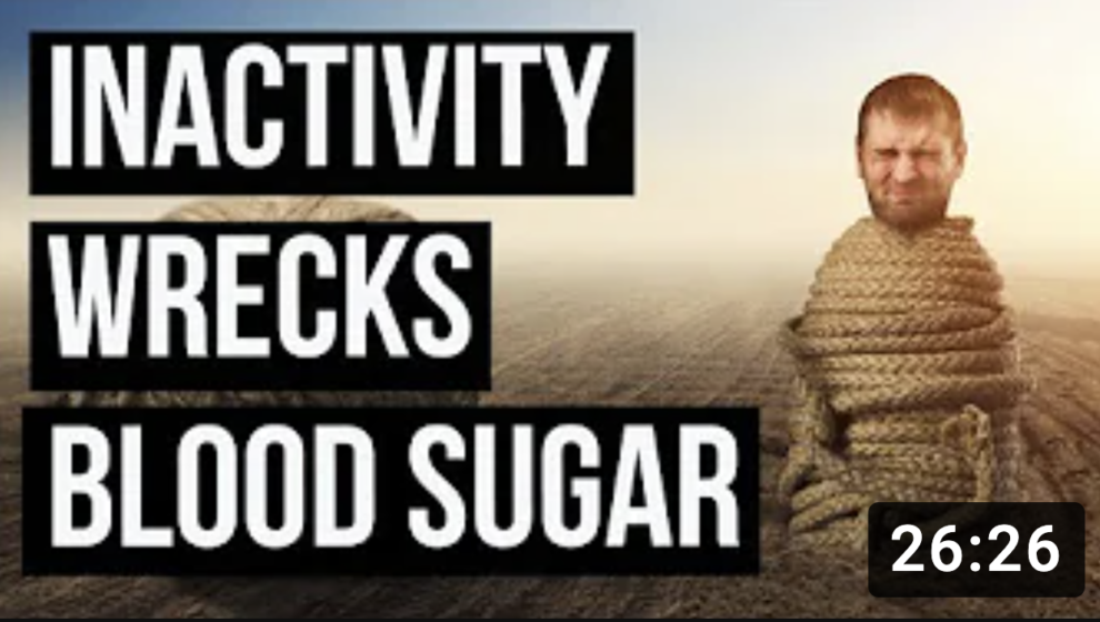 Blood Sugar Wrecked if You Don't Exercise